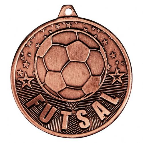 Cascade Futsal Iron Medal Antique Bronze 50mm